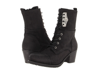 Diesel The Wild Land Canionik Mid Heel Boot Black Waxy Suede at 6pm