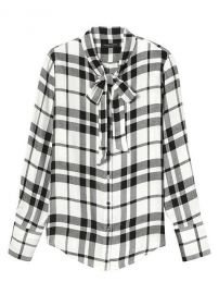 Dillon-Fit Tie-Neck Flannel Shirt by Banana Republic at Banana Republic
