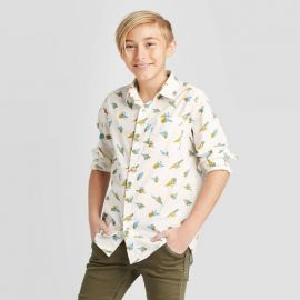 Dino Print Button-Down Shirt by Cat  Jack at Target
