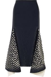 Dion Lee   Asymmetric cutout neoprene midi skirt at Net A Porter