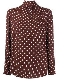 Distorted polka-dot blouse at Farfetch