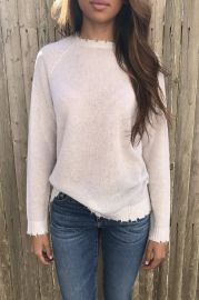 Distressed Cashmere Sweater by Minnie Rose at Gloria Jewel