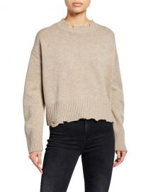 Distressed Crewneck Pullover Sweater by Helmut Lang at Bergdorf Goodman
