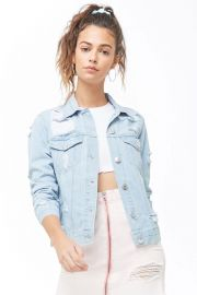 Distressed Denim Jacket at Forever 21