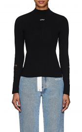 Distressed Rib-Knit Top by Off-White c o Virgil Abloh at Barneys