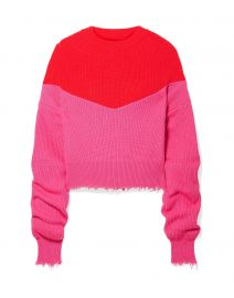 Distressed Ribbed Two-Tone Sweater by Ben Taverniti Unravel Project at Yoox