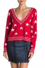 Distressed Star Print Sweater at Nordstrom Rack