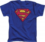 Distressed Superman logo tee at TV Store Online