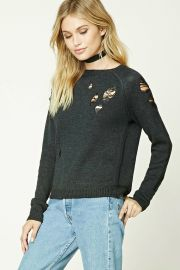 Distressed Sweater at Forever 21