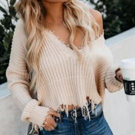 Distressed Sweater by Vici at Vici