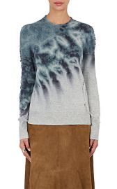 Distressed Tie-Dyed Merino Wool-Cashmere Sweater at Barneys