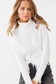 Distressed Turtleneck Sweater by Forever 21 at Forever 21