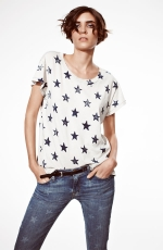 Distressed print tee by Current Elliot at Nordstrom