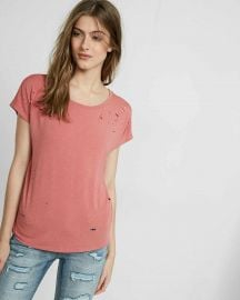 Distressed tee at Express