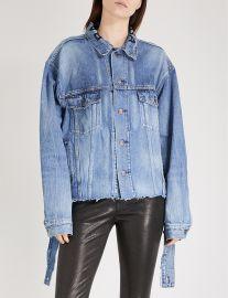 Distressed-waist denim jacket at Selfridges