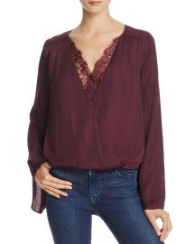 Do and Be Lace-Trim Crossover Top at Bloomingdales