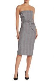 Do+Be Strapless Plaid Print Midi Dress at Nordstrom Rack