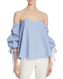 Do and Be Bustier Tie Sleeve Top blue at Bloomingdales