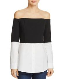 Do and Be Off-the-Shoulder Layered-Look Top at Bloomingdales