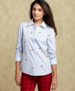 Dog embroidered shirt by Tommy Hilfiger at Macys