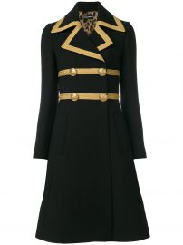 Dolce  Gabbana Double Breasted Military Coat at Farfetch
