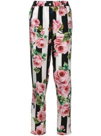 Dolce  amp  Gabbana Floral Print Trousers   at Farfetch