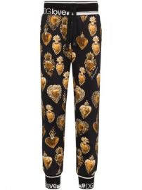 Dolce  amp  Gabbana Sacred Heart print trousers at Farfetch