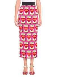 Dolce   Gabbana - Amore Can-Print Pencil Skirt at Saks Fifth Avenue