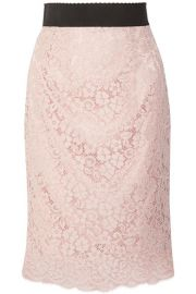 Dolce   Gabbana   Corded cotton-blend lace midi skirt at Net A Porter