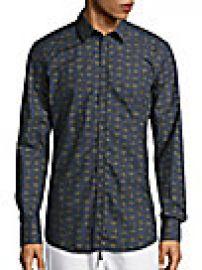 Dolce   Gabbana - Crown-Print Cotton Sportshirt at Saks Off 5th