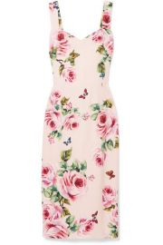 Dolce   Gabbana   Floral-print cady midi dress at Net A Porter