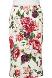 Dolce   Gabbana - Floral-print cady midi skirt at Net A Porter