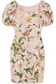 Dolce   Gabbana - Floral-print crepe mini dress at Net A Porter