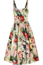 Dolce   Gabbana - Floral-print duchesse silk-satin midi dress at Net A Porter