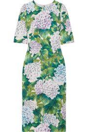 Dolce   Gabbana   Floral-print silk-blend charmeuse midi dress at Net A Porter