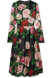 Dolce   Gabbana - Floral-print silk-blend satin dress at Net A Porter