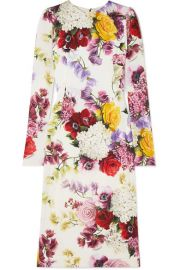 Dolce   Gabbana - Floral-print silk-blend satin midi dress at Net A Porter