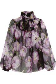 Dolce   Gabbana   Floral-print silk-chiffon blouse at Net A Porter