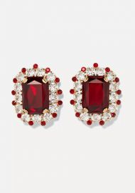 Dolce   Gabbana - Gold-tone crystal clip earrings at Net A Porter