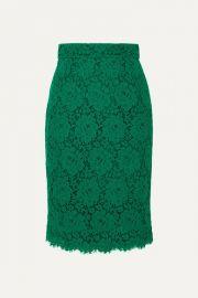 Dolce   Gabbana - Guipure lace skirt at Net A Porter