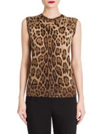 Dolce   Gabbana - Leopard-Print Shell at Saks Fifth Avenue