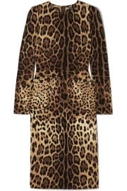 Dolce   Gabbana - Leopard-print silk-blend midi dress at Net A Porter