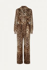 Dolce   Gabbana - Leopard-print silk-twill jumpsuit at Net A Porter
