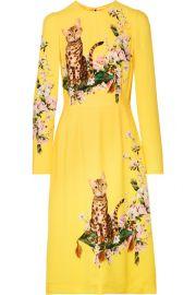 Dolce   Gabbana   Printed cady dress at Net A Porter