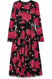 Dolce   Gabbana - Printed stretch-silk chiffon midi dress at Net A Porter