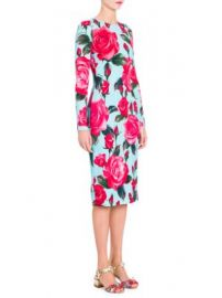 Dolce   Gabbana - Rose-Print Sheath Dress at Saks Fifth Avenue