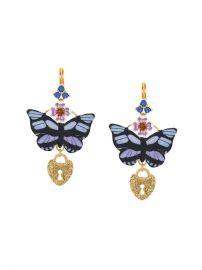 Dolce   Gabbana Butterfly Locket Earrings - Farfetch at Farfetch