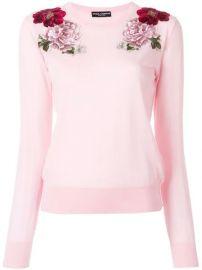 Dolce   Gabbana Cashmere Rose Patch Sweater - Farfetch at Farfetch