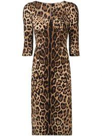 Dolce   Gabbana Fitted Leopard Print Dress - Farfetch at Farfetch