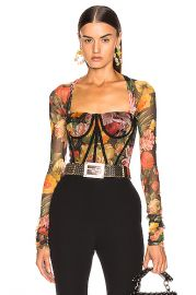 Dolce   Gabbana Floral Bustier Top in Multi   FWRD at Forward